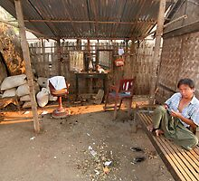 burmese barber by Colinizing  Photography with Colin Boyd Shafer