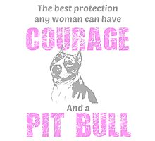 Courage and a Pit bull Photographic Print