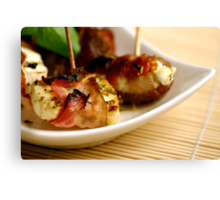 Bacon And Cheese 4 Fingerfood Canvas Print
