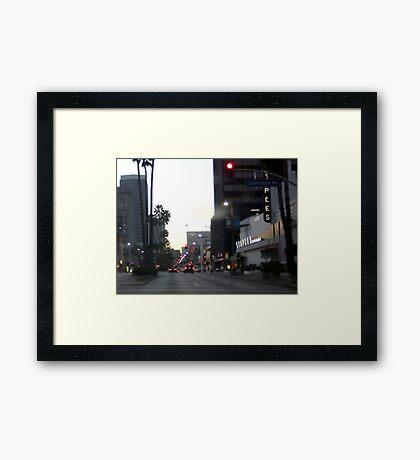 Downtown Los Angeles 0698b Framed Print
