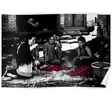 Stitching Red Chillies Together Poster