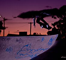 Skateboarding and Sunset by adrianfowlers