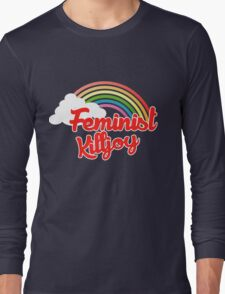 Feminist killjoy retro rainbow Long Sleeve T-Shirt