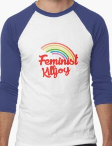 Feminist killjoy retro rainbow Men's Baseball ¾ T-Shirt