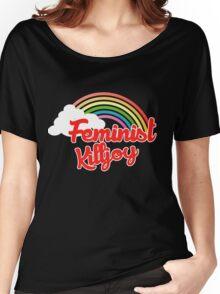 Feminist killjoy retro rainbow Women's Relaxed Fit T-Shirt
