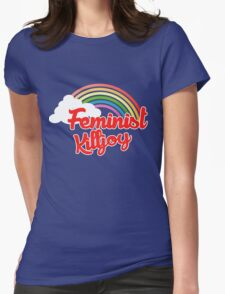 Feminist killjoy retro rainbow Womens Fitted T-Shirt
