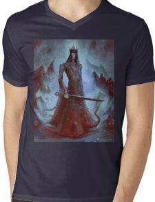 Lich King White Walker Ringwraith Mens V-Neck T-Shirt