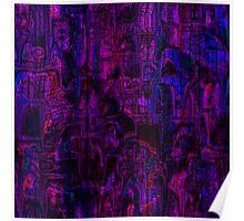 Mauve abstraction Poster