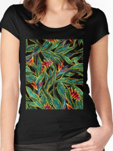 dark cactus party Women's Fitted Scoop T-Shirt
