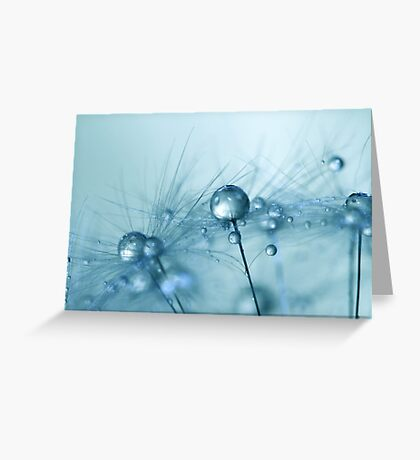 Powder Blue Greeting Card