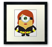 minion black widow Framed Print