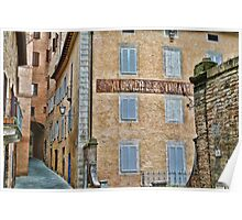 Streets of Siena Poster