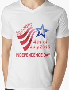 happy independence day, 4th of July 2015 Mens V-Neck T-Shirt