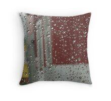 Drops of water, rain, spring Throw Pillow