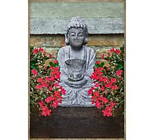 Little Buddha Sculpture Collage Photographic Print
