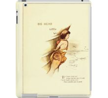 Old Proverbs with New Pictures Lizzie Laweson and Clara Mateaux 1881 0061 Big Head Little Wit iPad Case/Skin