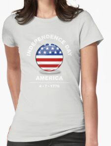 independence day, america 4-7-1776 Womens Fitted T-Shirt