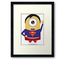 minion superman Framed Print