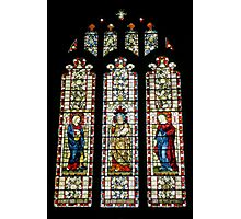stained glass at St Mary's Photographic Print