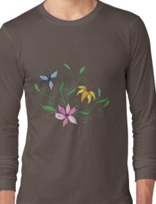 Watercolor colorful orchid Long Sleeve T-Shirt