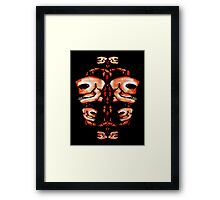 Skull Motif Ornament Framed Print