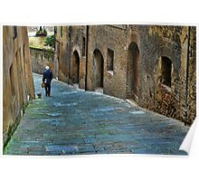 Streets of Siena - Italy Poster