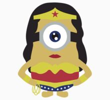 minion wonder woman by ClipBookLookArt