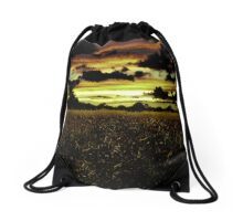 Dark Meadow Landscape  Drawstring Bag