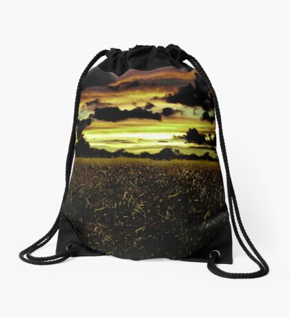 Dark Meadow Landscape  Drawstring Bag