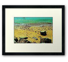 Rocks on the Beach Framed Print