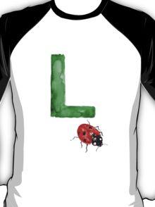 Ladybird watercolor alphabet painting T-Shirt