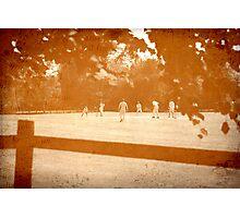 Village Cricked Match Photographic Print