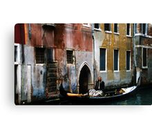 Taxi waiting... Canvas Print