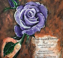 Purple Rose by Elisabeth Dubois