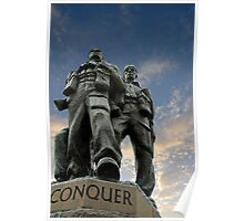 Spean Bridge commando monument, Scotland Poster