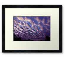 Morning sky over Madera 4/30/10 Framed Print