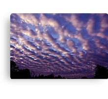 Morning sky over Madera 4/30/10 Canvas Print
