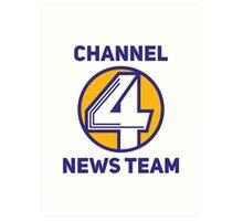 Anchorman - Channel 4 News Team Art Print