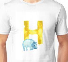 Hippo watercolor alphabet drawing Unisex T-Shirt