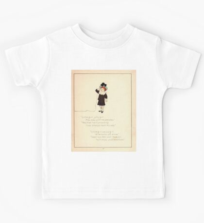 The Glad Year Round for Boys and Girls by Almira George Plympton and Kate Greenaway 1882 0039 Little Girl Jolly Kids Tee