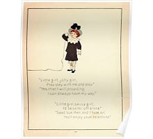 The Glad Year Round for Boys and Girls by Almira George Plympton and Kate Greenaway 1882 0039 Little Girl Jolly Poster