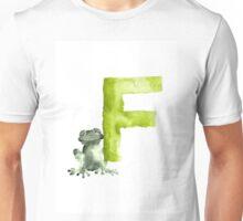Frog watercolor alphabet painting Unisex T-Shirt
