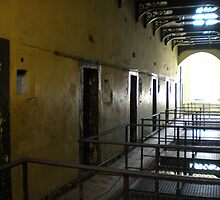 Cell Hallway in Kilmainham Gaol by kdilts