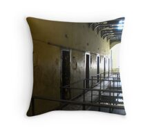 Cell Hallway in Kilmainham Gaol Throw Pillow