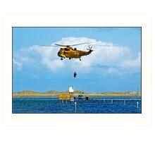 Air Sea Rescue Lindisfarne Art Print