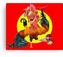 Chicken tango Canvas Print