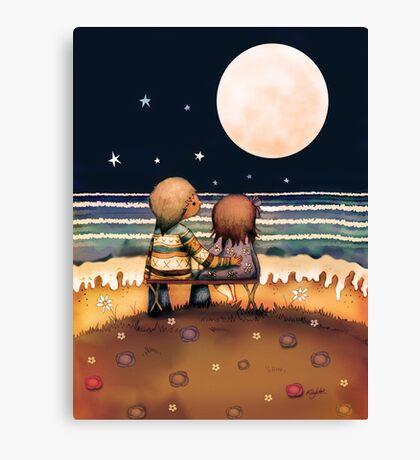 the stars, the moon and the tide Canvas Print
