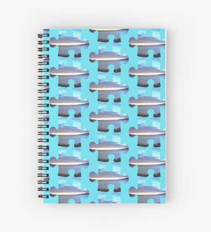overexposed dawn Spiral Notebook