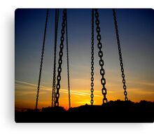 Chain Sunset Canvas Print