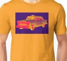 Checkered Taxi Cab Pop Art Unisex T-Shirt